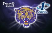 Booneville bearcats logo with the First National Bank at Paris logo
