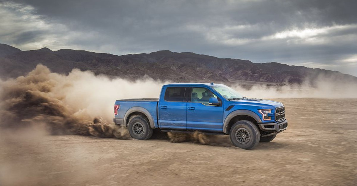 blue pickup truck image